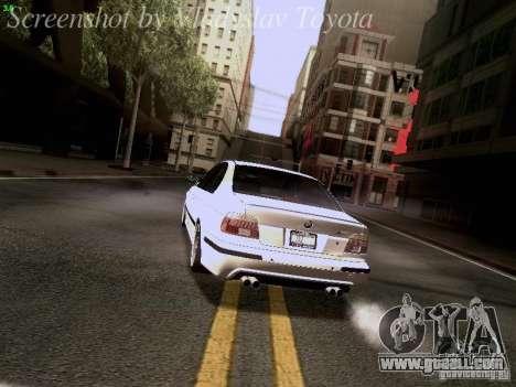 BMW E39 M5 2004 for GTA San Andreas wheels