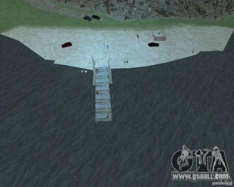 The lively beach of Palomino Creek for GTA San Andreas third screenshot