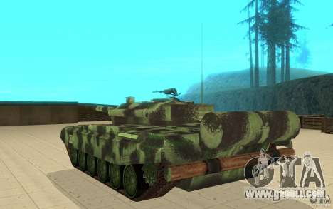 Tank T-72 for GTA San Andreas back left view