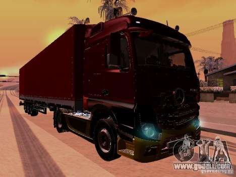 Mercedes Benz Actros MP4 for GTA San Andreas inner view