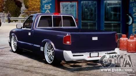 Chevrolet S10 1996 Draggin [Beta] for GTA 4 back left view
