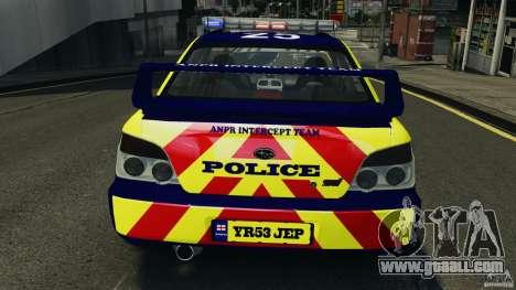 Subaru Impreza British ANPR [ELS] for GTA 4 interior
