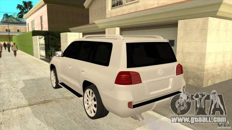 Lexus LX 570 for GTA San Andreas back left view