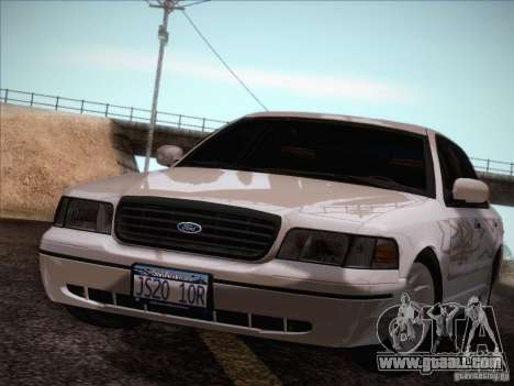 Ford Crown Victoria Interceptor for GTA San Andreas inner view