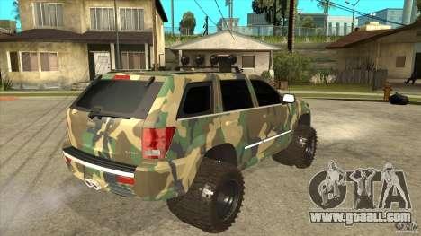Jeep Grand Cherokee SRT8 Camo for GTA San Andreas right view