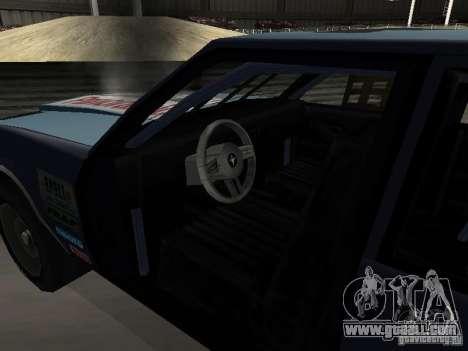 GreenWood Racer for GTA San Andreas inner view