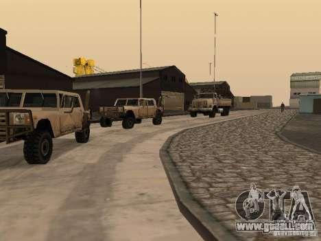 The revived military base in docks v3.0 for GTA San Andreas