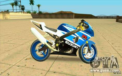 Suzuki GSX-R 1000 for GTA San Andreas left view