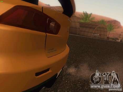 Mitsubishi  Lancer Evo X BMS Edition for GTA San Andreas engine