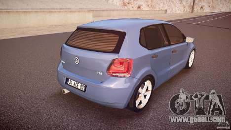 Volkswagen Polo 2011 for GTA 4 upper view