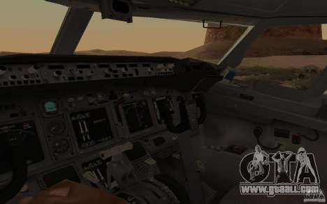 Boeing 737-800 for GTA San Andreas back view