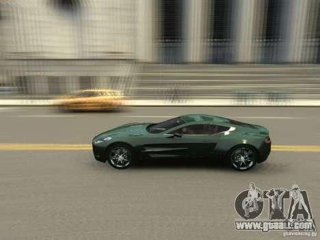Aston Martin One 77 2012 for GTA 4 inner view