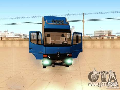 Mercedes-Benz Atego for GTA San Andreas inner view