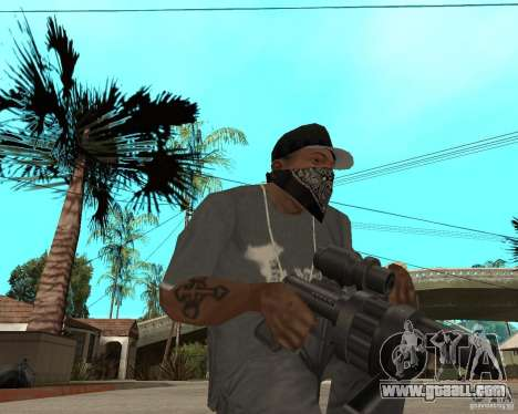 Shotgun in style revolver for GTA San Andreas second screenshot