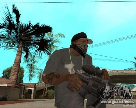 Shotgun in style revolver for GTA San Andreas second screenshot