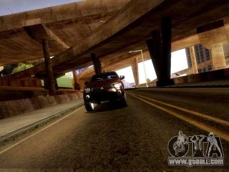 Mitsubishi L200 Stock for GTA San Andreas back view
