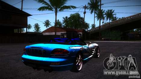 Dodge Viper Mopar Drift for GTA San Andreas right view