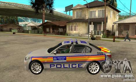 Metropolitan Police BMW 5 Series Saloon for GTA San Andreas left view