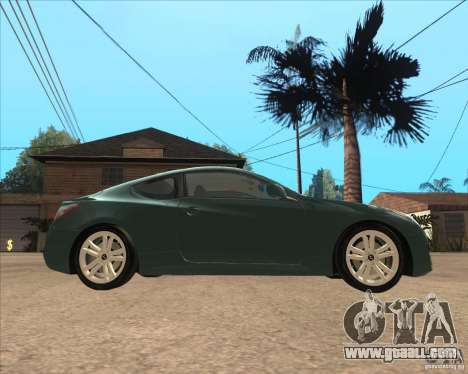 Hyundai Genesis Coupe for GTA San Andreas left view