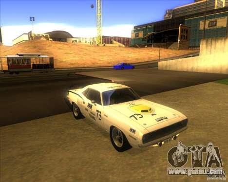 Plymouth Hemi Cuda for GTA San Andreas back view