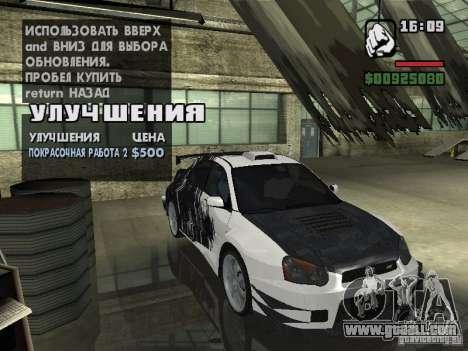 Subaru Impreza Wrx Sti 2002 for GTA San Andreas left view