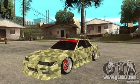 Nissan Silvia S13 Army Drift for GTA San Andreas