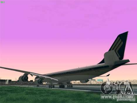 Airbus A340-600 Singapore Airlines for GTA San Andreas left view