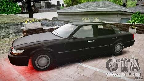 Washington FBI Car for GTA 4 inner view
