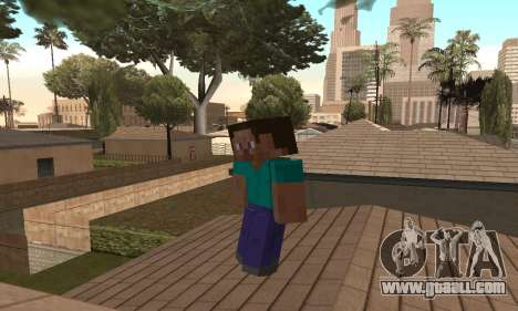Steve from the game Minecraft skin for GTA San Andreas forth screenshot