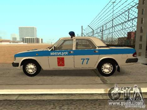 GAZ 3110 Police for GTA San Andreas left view