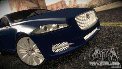 Jaguar XJ 2010 V1.0 for GTA San Andreas back left view