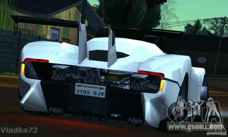 Pagani Zonda EX-R for GTA San Andreas left view