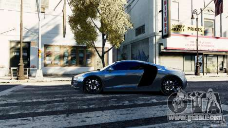 Audi R8 Spider 2011 for GTA 4 left view