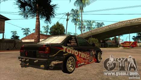 Toyota Corolla AE86 Grid for GTA San Andreas right view
