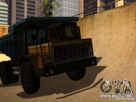 BELAZ 540 for GTA San Andreas back left view