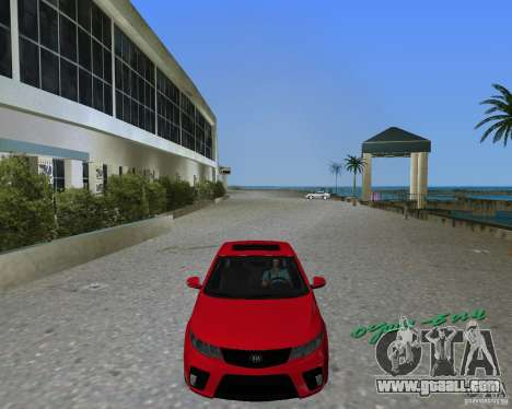 Kia Forte Coupe for GTA Vice City back left view