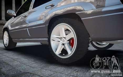 Jeep Grand Cheroke for GTA 4 bottom view