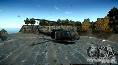 Bell UH-1D German Bundeswehr for GTA 4 back left view