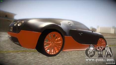 Bugatti Veyron Super Sport for GTA San Andreas back view