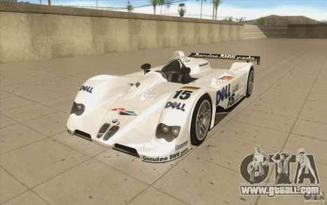 BMW V12 LeMans - Stock for GTA San Andreas