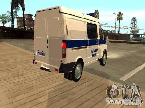 GAZ 2217 Sobol POLICE for GTA San Andreas back left view