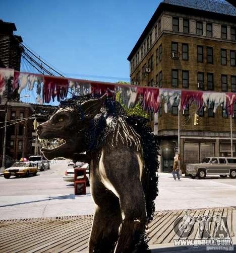 Werewolf from Skyrim for GTA 4 third screenshot