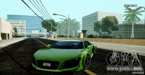 Audi R8 Light Tuned Version for GTA San Andreas
