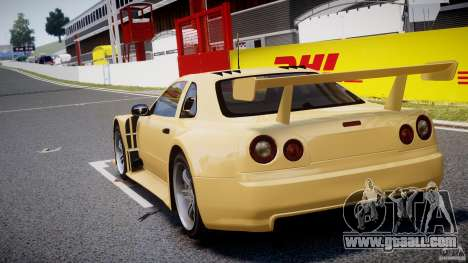 Nissan Skyline R34 v1.0 for GTA 4 back left view