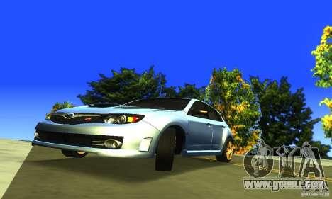 Subaru Impresa WRX STI 2008 for GTA San Andreas back view