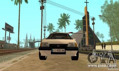 Opel Kadett E for GTA San Andreas right view