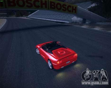 Ferrari F355 Spyder for GTA San Andreas inner view