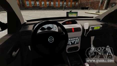 Chevrolet Corsa 2012 PMESP ELS for GTA 4 inner view