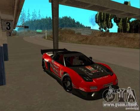 Acura NSX Sumiyaka for GTA San Andreas back view