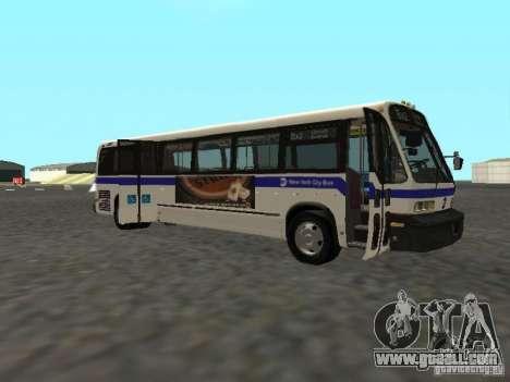 GMC RTS MTA New York City Bus for GTA San Andreas back left view
